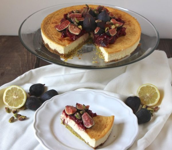 honey pistachio cheesecake