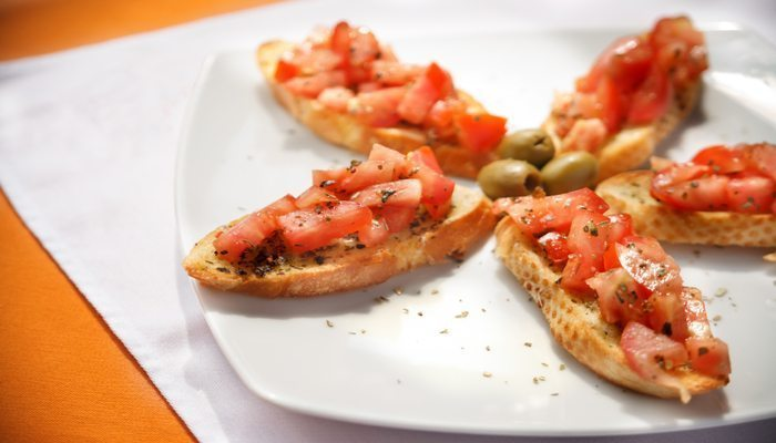 Bruschetta And Shrimp